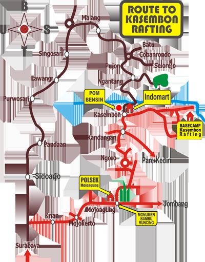 Peta Kasembon Rafting
